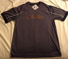 Majestic MLB Major League Baseball San Francisco Giants Cool Base L Grey Jersey!