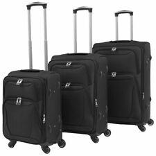 vidaXL Trolleyset Zwart 3-delig Trolley Set Trolleys Kofferset Koffer Koffers