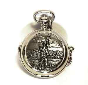 Game Shooting Scene Pocket Watch Gift Box FREE ENGRAVING Shooter Present