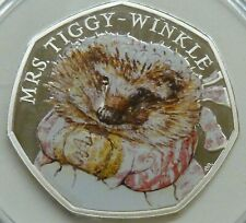 Mrs Tiggy-Winkle 2016 Royal Mint Sterling Silver Proof 50p Coin Beatrix Potter