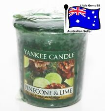 YANKEE CANDLE Votive Candle * Pinecone & Lime * 15 HOURS BURNING * CHRISTMAS *