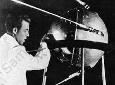 Sputnik 1 First Satellite PHOTO Soviet Union 1957 Space Race Begins!