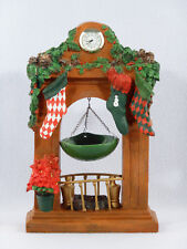 "Yankee Candle 12"" Christmas FIREPLACE MANTLE w/ Hanging Wax Tart Warmer"