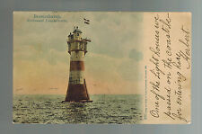 1903 Bremerhaven Germany Picture Postcard cover Lighthouse to USA