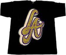 Los Angeles Paisley T-shirt LA Graffiti Art Lakers Tee Men 3XL Black New