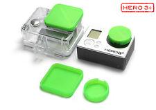 Linsen Schutz f. GoPro Go Pro HERO3+ Zubehör Lens Cap Protector Abdeckung Green