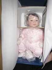 """Masterpiece Gallery Limited Edition Sheila Michael 18"""" Just Born in Pink Doll"""