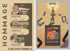 Nelson Mandela Nobel Prize Peace Politics Guinea MNH stamp set