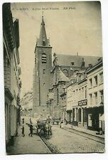CPA - Carte Postale - Belgique - Mons - Eglise Saint Nicolas - 1911 (DG14893)