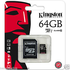 Kingston 64GB Micro SD SDXC Class 10 UHS-I Flash Memory Card for Camera, Laptop