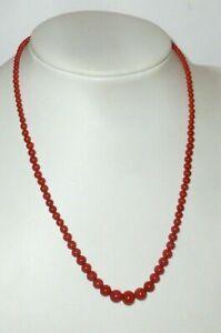 Anciens Coraux Collier de Perles Collier de Corail Pierre Chaîne