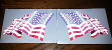 "American Flag Vinyl Decal, Custom made, 4.5"" x 3"" Set of 2, Reflective  #EF04"