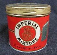 Vintage IMPERIAL MIXTURE Advertising Tin Virginia Tobacco Pipe (AB341)