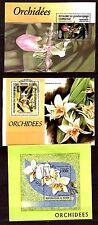 TOUS PAYS 3 blocs sur les fleurs: Les orchidées C223