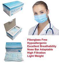 50 pcs Disposable 3-ply Earloop Anti-Dust Face Masks Medical Dental Nail Health