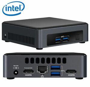 Intel NUC NUC7i3DNK 7th Gen 2.40GHz i3-7100U UCFF Black Grey