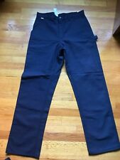 NWT Men's Carhartt FR Duck Carpenter Work Pants #FRB229DNY  33x34 Navy Blue