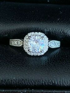 Engagement Ring Sterling Silver Vintage look!