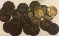 50 Antique Veil Old Head Queen Victoria Uk Penny 1d Coins Great Britain England