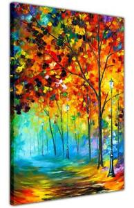 AT54378D Fog Autumn Alley By Leonid Afremov Canvas Wall Prints Deco Pictures