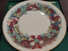 Lenox Colonial Christmas Wreath Plate 1982 Massachusetts