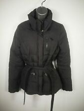 WOMENS ABERCROMBIE & FITCH ZIP UP DOWN PADDED PUFFER BELTED COAT JACKET SIZE XS