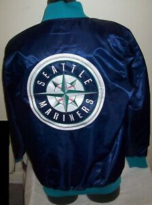 SEATTLE MARINERS MLB STARTER Full Zip Jacket Sping/Summer BLUE/SKYBLUE