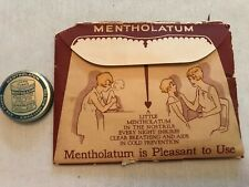 MENTHOLATUM Sample Box Tin Unused In Original Packaging