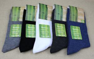 5 Pairs Whole Sale Bamboo Fiber Dress Socks For Mens Sock Deoborant Black 6-9 UK