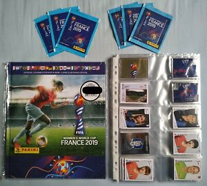 PANINI World Cup Wc Women 2019  Hardcover Album Brazil Complete Set + 6 packet