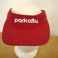 Roots Athletics PARK CITY Utah 100% Nylon Red Ski Visor Hat