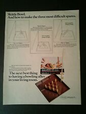 1967 Aurora Skittle Bowl Vintage Oddball Kids~Boys Toy Promo Art AD