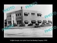 OLD LARGE HISTORIC PHOTO OF GRIFFIN GEORGIA, THE COCA COLA BOTTLING Co c1950