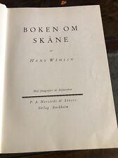 Boken Om Skane ~1930~Hans Wahlin~Swedish Language