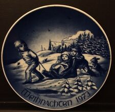 "WEIHNACHTEN 1973 ""CHRISTMAS 1973"" BAREUTHER  BAVARIA GERMANY PLATE"