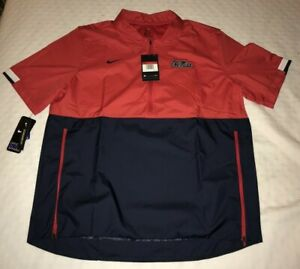 New Men's Nike Ole Miss Rebels Mississippi Short Sleeve Coaches Jacket Large