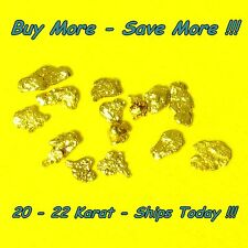 .165 Gram Alaskan Gold Nuggets Placer Flake Fines Real Alaska Natural 18k 20k