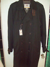 Hickey Freeman Cotton Blend Classic Double Breasted Trench Coat NWT 42R $1295