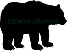 Grizzly Bear silhouette vinyl decal/sticker hunting hunter archery woods outdoor