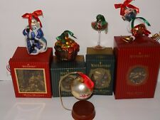 Waterford Holiday Heirlooms Ornaments 5 Gorgeous out of Production