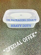 CHEAP 500ml Heavy Duty Plastic Food Containers + Lids Reusable 25 TAKEAWAY OFFER