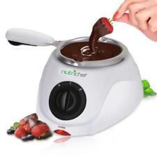 NutriChef Garden & Home Decor Electric Chocolate Melting and Warming Fondue Set