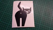 Maleducato black cat auto / moto / Finestra / Parete / notebook vinile decalcomania ADESIVO BUM, asini, ASSHOLE
