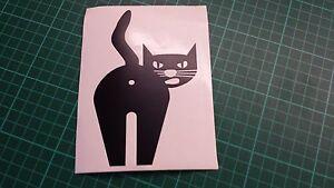 Rude Black Cat Car/Bike/Window/Wall/Laptop Vinyl Decal Sticker bum, ass, asshole