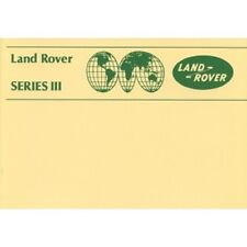 Land Rover Series III Owners Handbook (1979-1985 MY) book paper