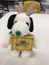 Peanuts SNOOPY Christmas Plush Stuffed Animal Whitman's Sampler Tags