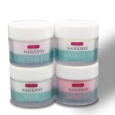 Nailed'It ACRYLIC POWDER Pink White Clear Acrylic Powder Set Choose Your Color