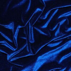 Royal Azul Decoración Terciopelo Tela Suave Fuerte Tapicería Material 160cm Gran