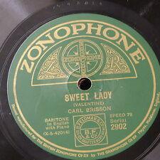 78 tr/min Carl Brisson Sweet Lady/depuis que je vous ai trouvé