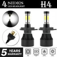 2X H4 9003 2000W 320000LM 4-Side LED Headlight CREE Car Kit Hi/Lo Bulb 6500K LE